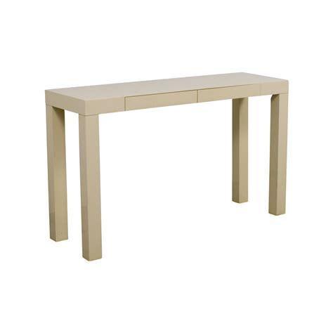 west elm parsons table 87 off west elm west elm white parsons console table