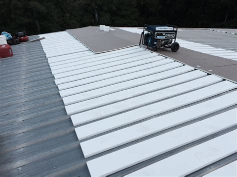 Retrofit TPO Roof System   Solves Leaking Metal Roof