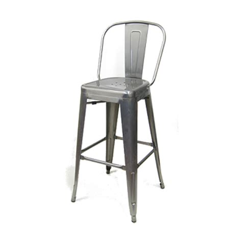 medium gun metal high back tolix bar stool tablebasedepot
