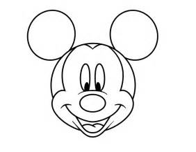 Mickey Mouse Head Coloring Pages  AZ sketch template