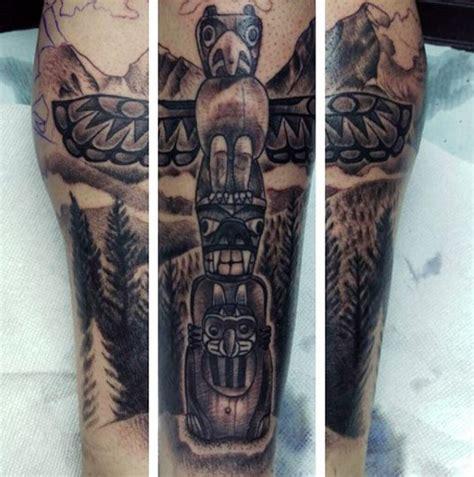 tattoo eagle totem 70 totem pole tattoo designs for men carved creation ink