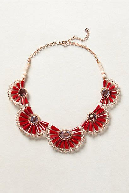 Zinnia Necklace zinnia bib necklace anthropologie my style haves wants and wish list