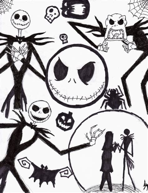 Nightmare Before Christmas Color Pages Coloring Home A Nightmare Before Coloring Pages