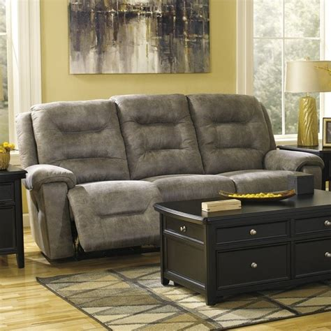 ashley furniture power reclining sofa reviews ashley furniture rotation power reclining sofa in smoke