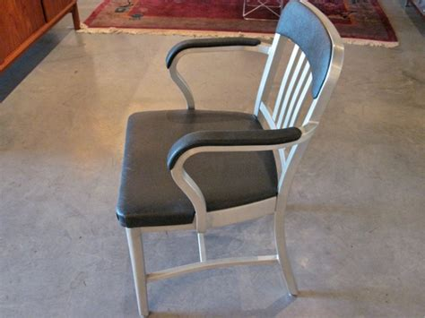 emeco navy upholstered chair metro modern emeco semi upholstered navy 1011 arm chairs