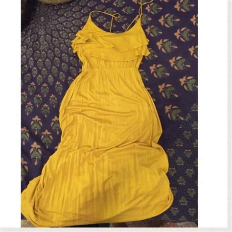 Yellow Dress By F21 72 forever 21 dresses skirts f21 mustard maxi
