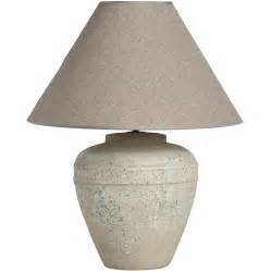 Brown Table Lamps White Stone Effect Ceramic Table Lamp