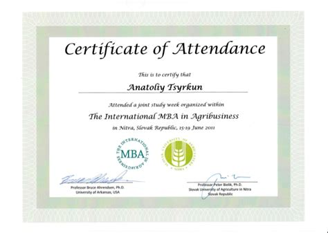 templates for certificates of attendance of a course certificate of attendance pictures to pin on pinterest