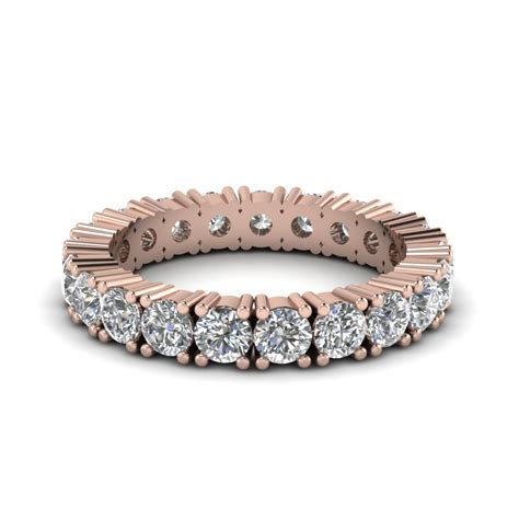 Rare Rose Gold Eternity Bands   Fascinating Diamonds
