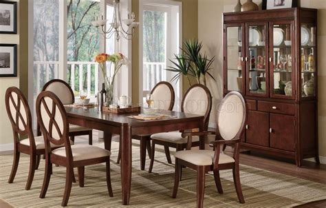 Formal Dining Table Brown Cherry Traditional Formal Dining Table W Optional Items
