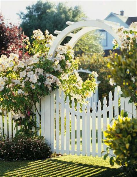 Cottage flavor welcoming garden gates