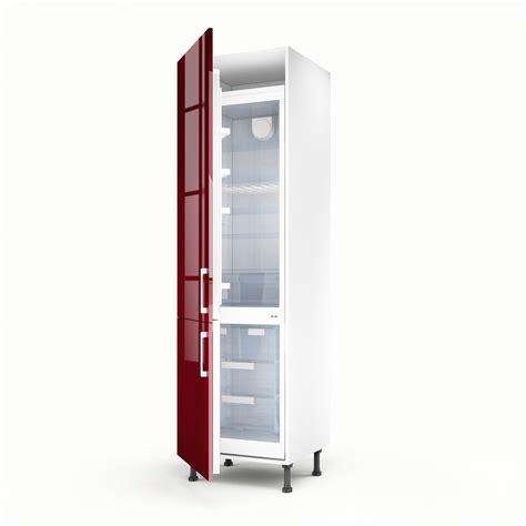 meuble cuisine 馥 60 meuble de cuisine colonne 2 portes griotte h 200 x l
