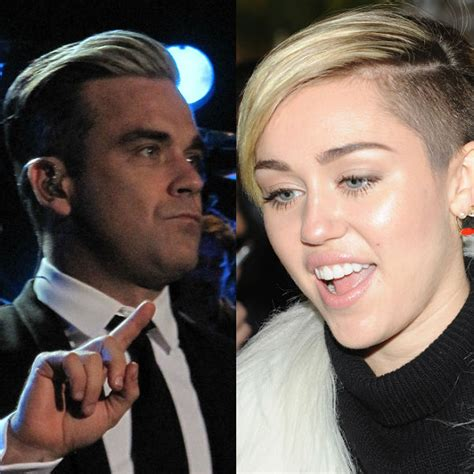 Pop Nosh Robbie Williams Does Rehab robbie williams fears that miley cyrus is heading for