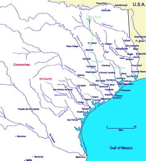 texas revolution map blackfork texas in 1836