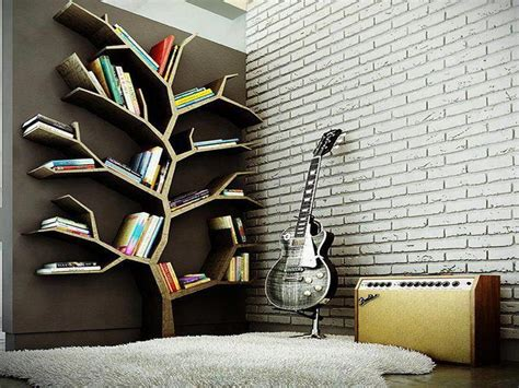 easy to make bookshelves tree shaped stroovi