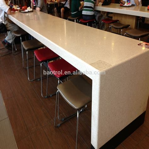 bar top for sale long table design kfc fast food bar top high table for