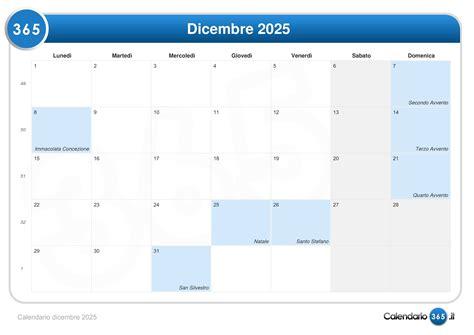 Calendario 8 Dicembre Calendario Dicembre 2025