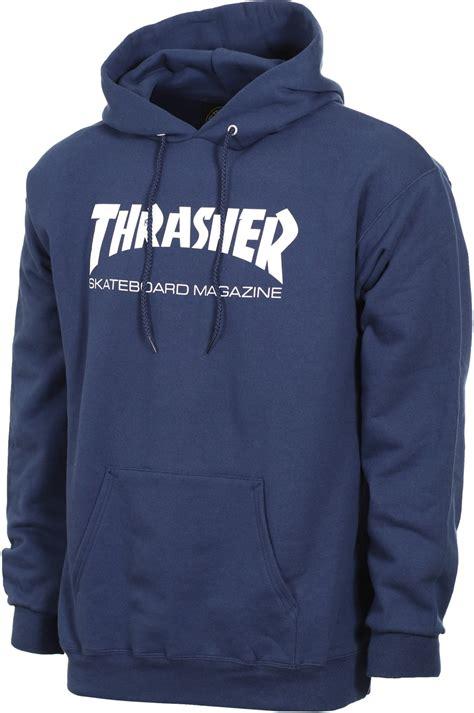Jaket Hoodie Skate Thrasher Navy thrasher skate mag hoodie free shipping