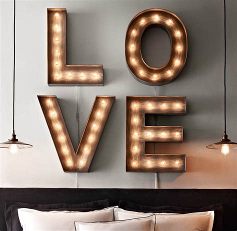 Illuminated marquee letters and numbers