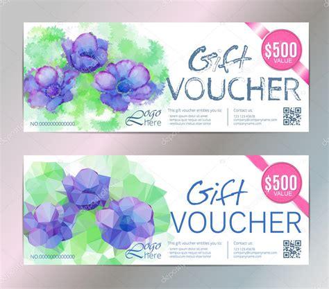 Voucher Vip 1 Th gift voucher vector set watercolor silver