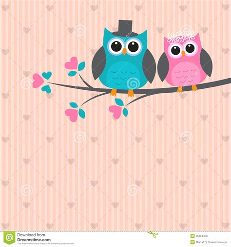 imagenes kawaii de buhos dos buhos lindos en amor fotos de archivo imagen 25154453