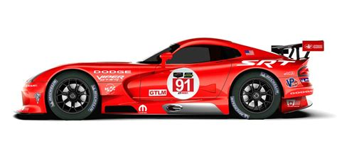 Dodge Racing Cars by Racing Vipers To Wear Le Mans Winning Dodge Livery Again