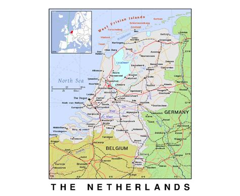 netherlands map detailed maps of netherlands detailed map of netherlands