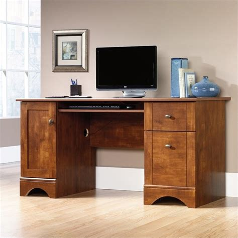 Maple Desks Home Office Sauder 29 Quot H X 59 1 2 Quot W X 23 1 2 Quot D Computer Desk With File Drawer Brushed Maple Home