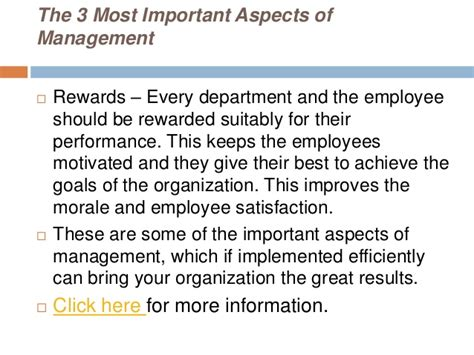 Most Important Aspects Of Mba App by The 3 Most Important Aspects Of Management