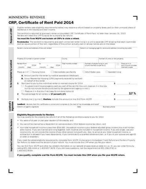Crp Form Download