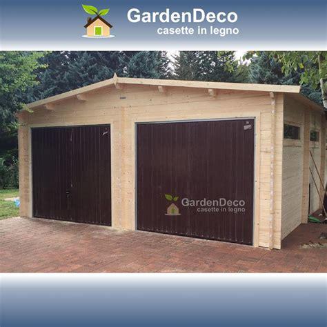 garage in legno da giardino garage in legno 6x7m 2 posti auto da giardino gardendeco