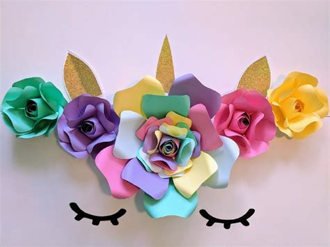 Backdrop Paper Flower Hiasan Jendela Ready Stock paper flowers unicorn backdrop includes 5 paper flowers and 4 accessories fully assembled