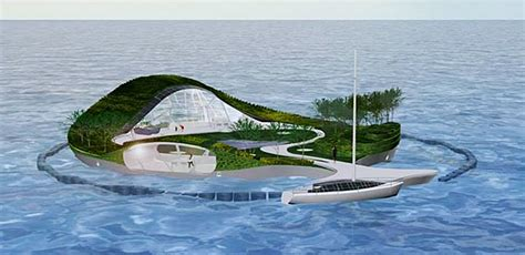 island design whim presents design of a floating villa made of