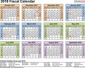2018 Calendar Template Pdf Fiscal Calendars 2018 As Free Printable Pdf Templates