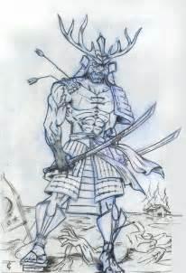 how to draw samurai warrior