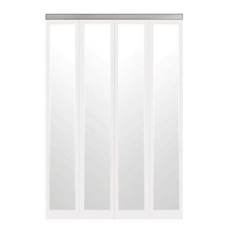48 Bi Fold Closet Doors by Impact Plus 48 In X 80 In Mir Mel Primed Mirror Solid