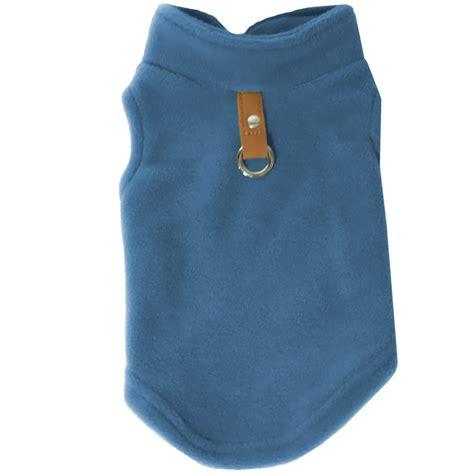 vest for dogs gooby fleece vest for dogs blue large healthypets