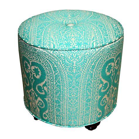 turquoise tufted ottoman dot ottoman turquoise