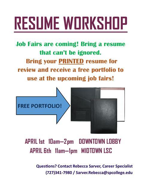 Resume Workshop Resume Workshops Are Coming Soon To Dt Mt Careers Internships