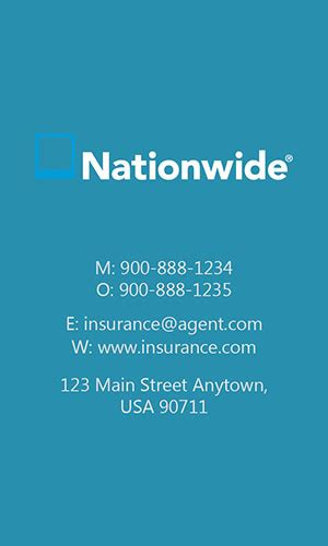 nationwide insurance card template insurance business card allstate agents card designs