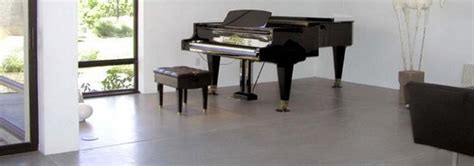 piano on concrete floor concrete paint
