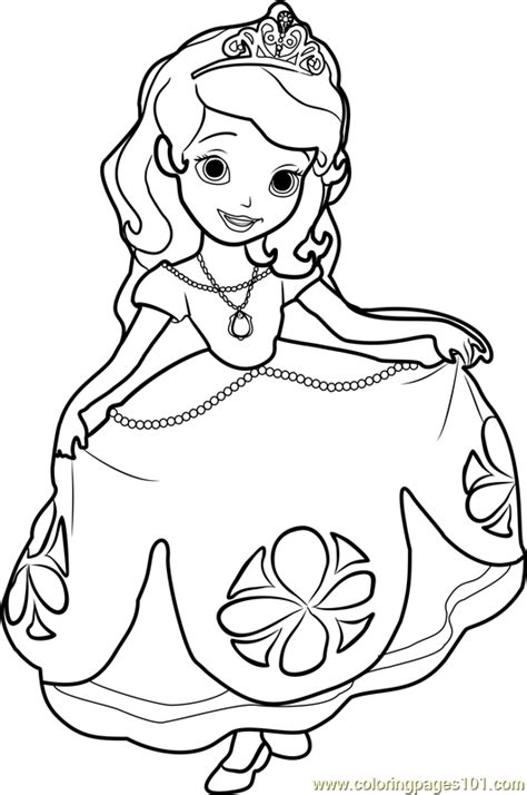 Princess Sofia Coloring Page Free Disney Princesses Sofia Princess Coloring Pages