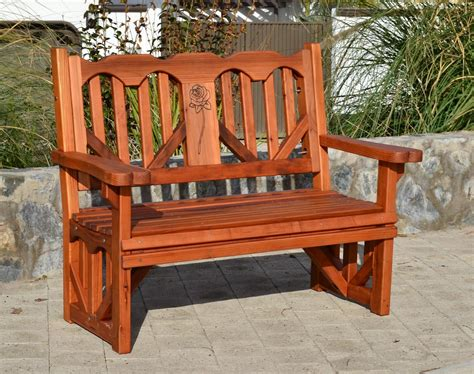 heart bench outdoor redwood heart bench forever redwood