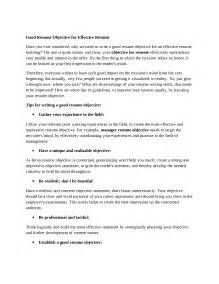 Good Cv Objective Statements How To Write A Good Objective