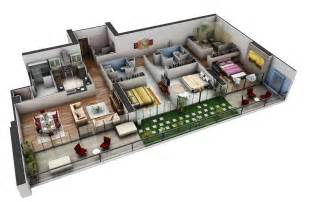 Guest Bedroom Office - 50 three 3 bedroom apartment house plans architecture
