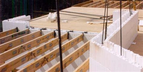 Thermacell blocks are built up from footings. Floor joists