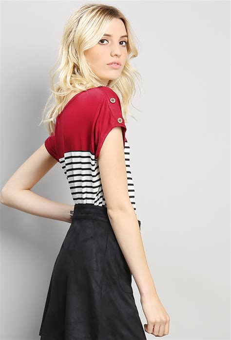marina best seller edebe 8423687260 marine striped top shop best sellers at papaya clothing