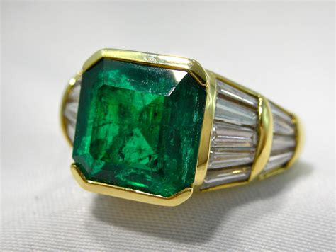jona emerald gold band ring at 1stdibs