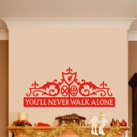 Wall Sticker Liverpool 3 liverpool you ll never walk alone wall sticker
