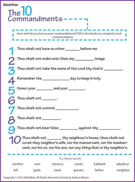 printable version ten commandments catholic 25 best ideas about 10 commandments kids on pinterest